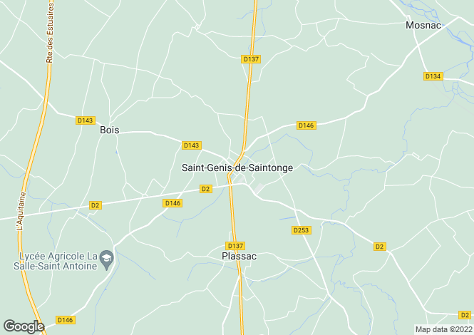 Map for Secteur: Saint Genis de Saintonge, Charente-Maritime