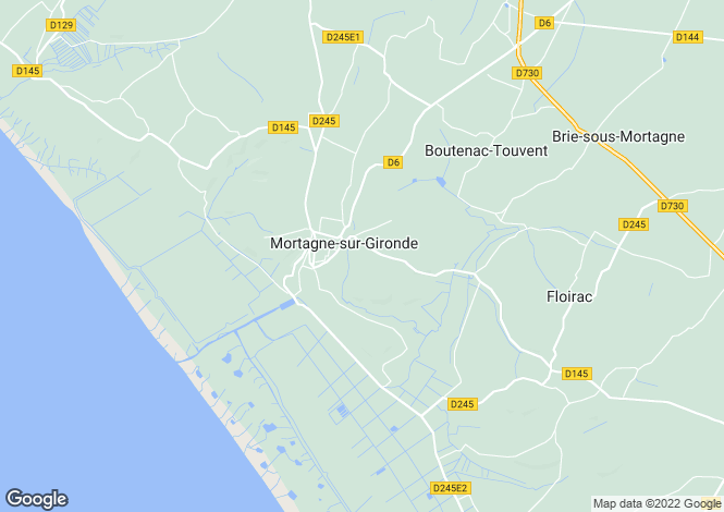 Map for 17120 mortagne-sur-gironde