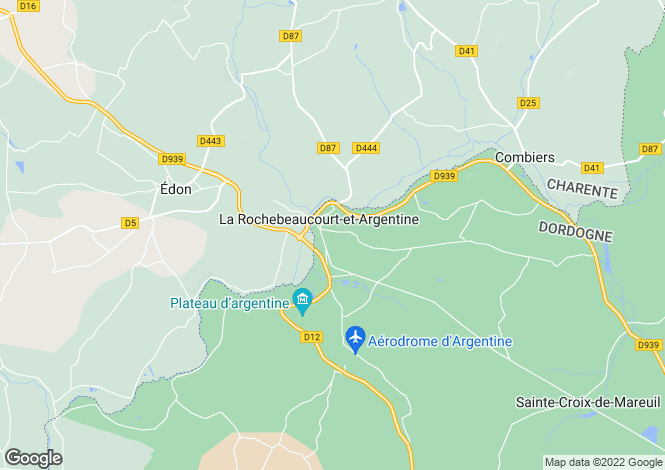 Map for la-rochebeaucourt-et-argentine, Dordogne, France