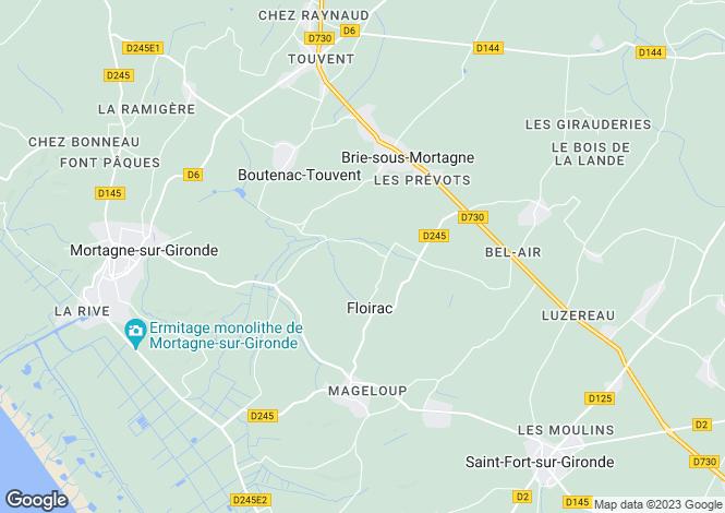 Map for floirac, Charente-Maritime, France