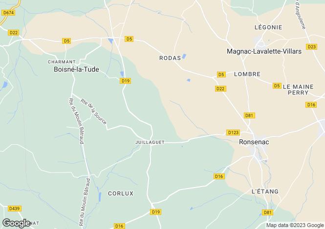 Map for juillaguet, Charente, France