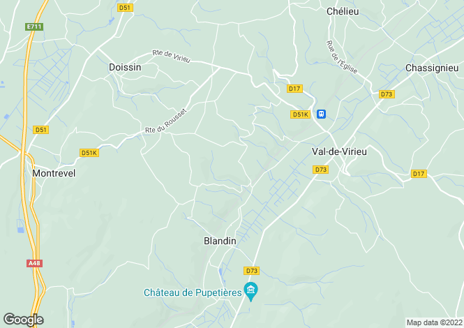 Map for panissage, Isère, France