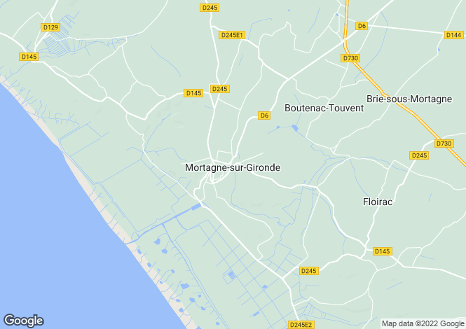 Map for Mortagne sur Gironde, Charente Maritime