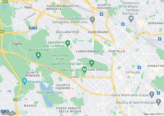 Map for Milano, Milano, Italy