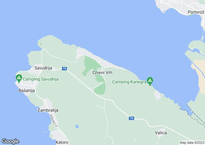 Map for Crveni Vrh Nr Umag, Savudrija, Slovenia