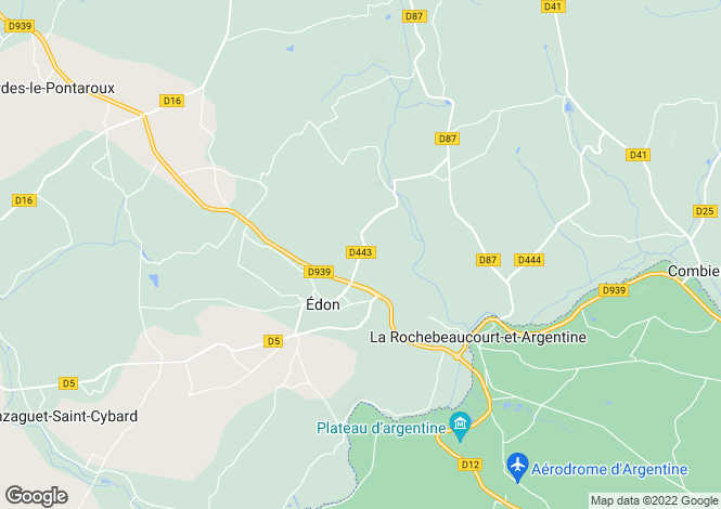 Map for Édon, Charente, 16320, France