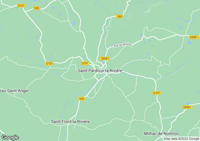 Map for Secteur: Saint-Pardoux-la-Riviere, Dordogne