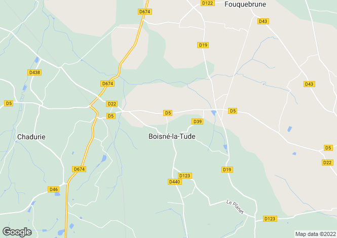 Map for charmant, Charente, France