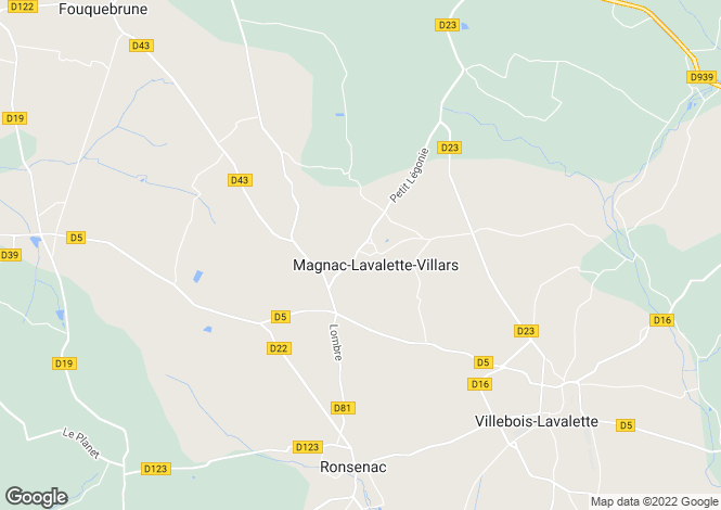 Map for magnac-lavalette-villars, Charente, France