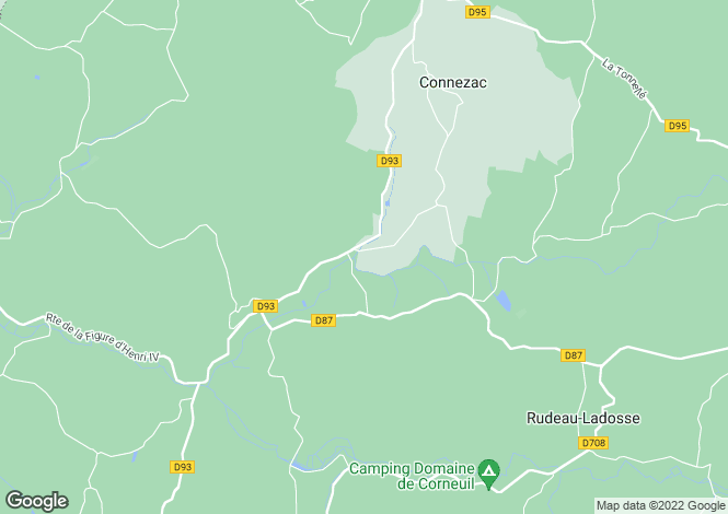 Map for connezac, Dordogne, France