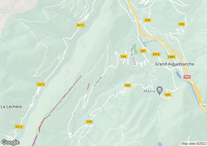 Map for doucy, Savoie, France
