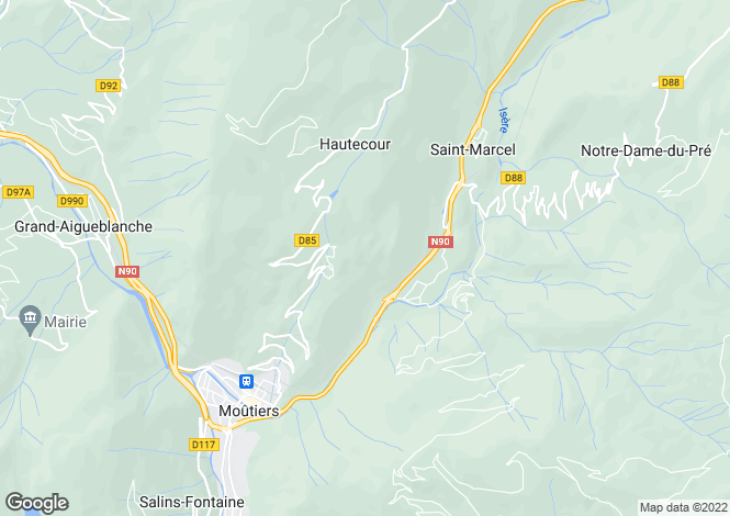 Map for Rhone Alps, Savoie, Hautecour