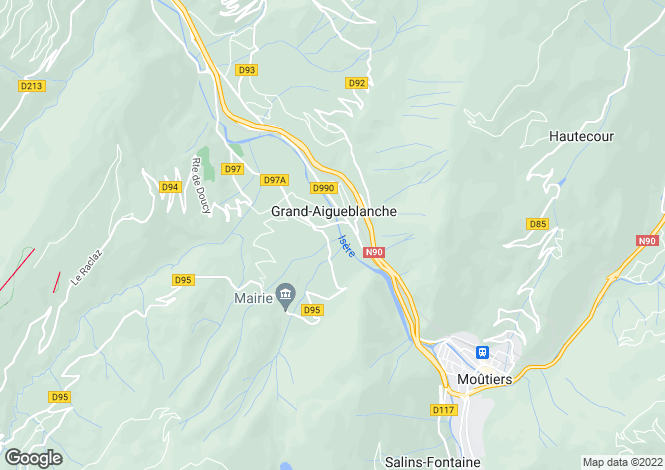 Map for aigueblanche, Savoie, France
