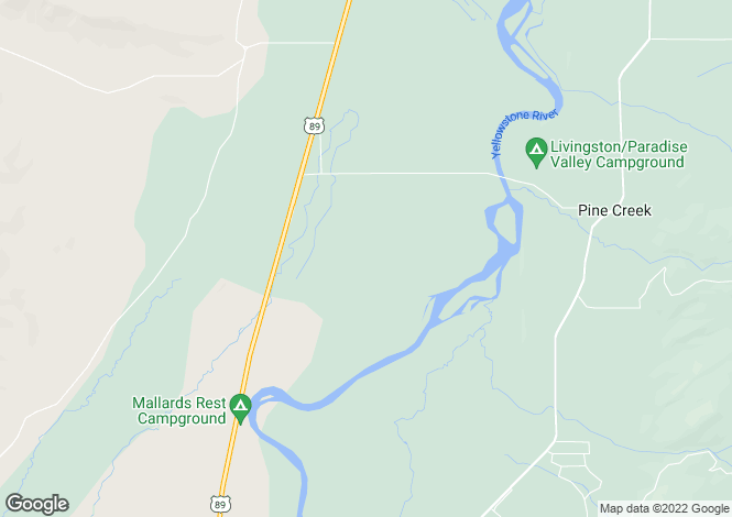 Map for Montana, Park County, Livingston