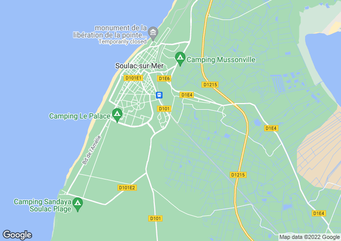 Map for soulac-sur-mer, Gironde, France