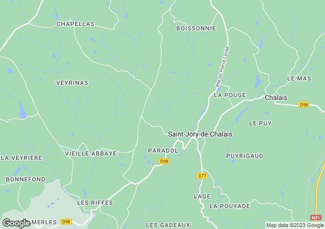 Map for st-jory-de-chalais, Dordogne, France