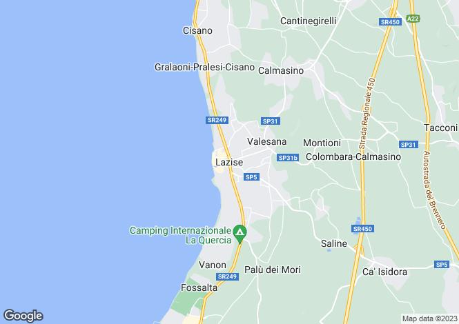 Map for Veneto, Verona, Lazise