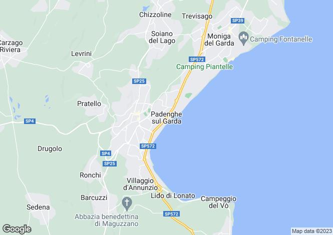 Map for Padenghe Sul Garda 25080, Brescia