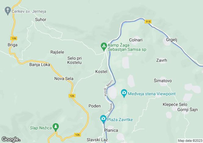 Map for Kocevje, Kocevje, Slovenia
