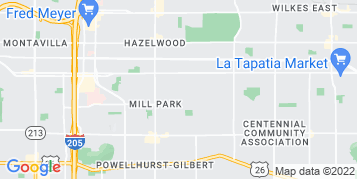 Hazelwood Gutter Cleaning map
