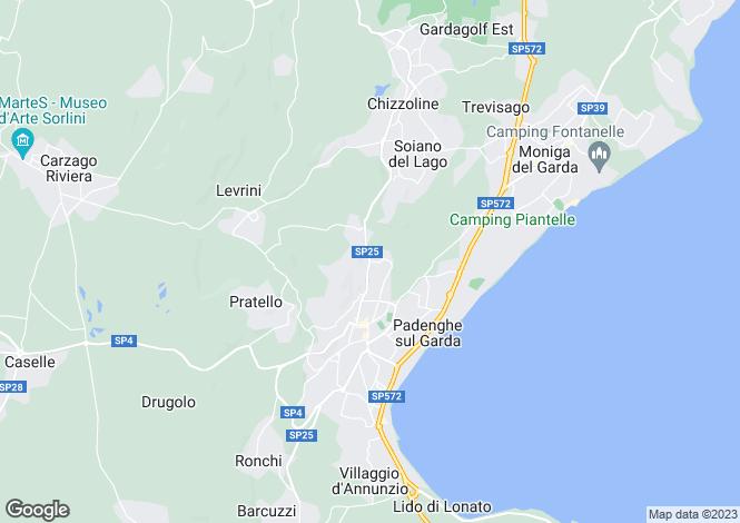 Map for Lombardy, Brescia, Padenghe Sul Garda