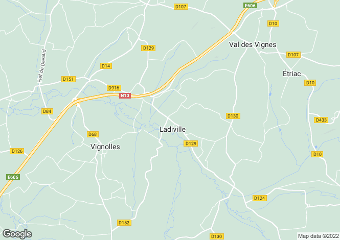 Map for ladiville, Charente, France