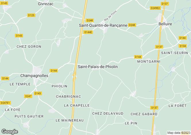 Map for Poitou-Charentes