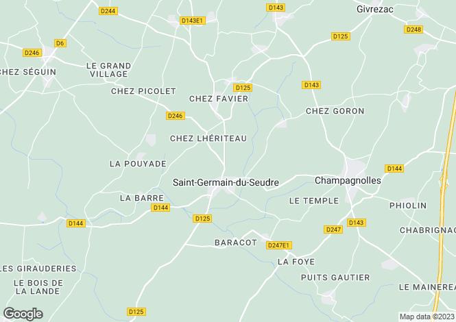 Map for st-germain-du-seudre, Charente-Maritime, France
