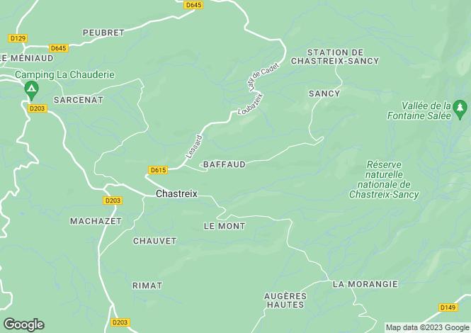 Map for chastreix, Puy-de-Dôme, France