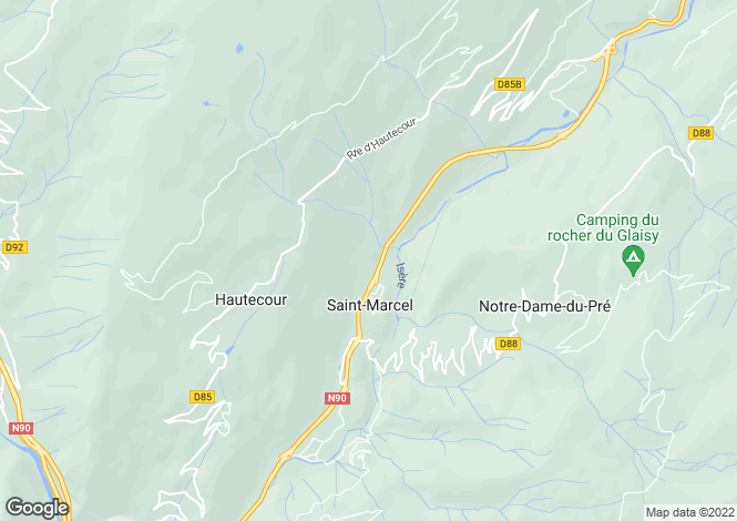 Map for St-Marcel, Savoie, Rhone Alps