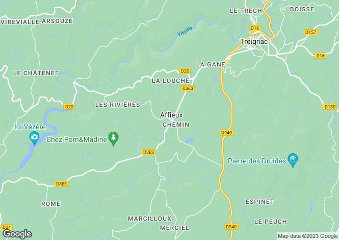 Map for Affieux, 19260, France