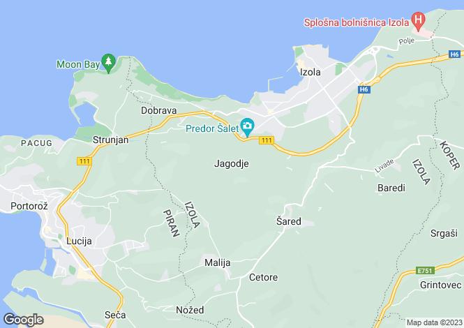 Map for Near Izola, Slovenia