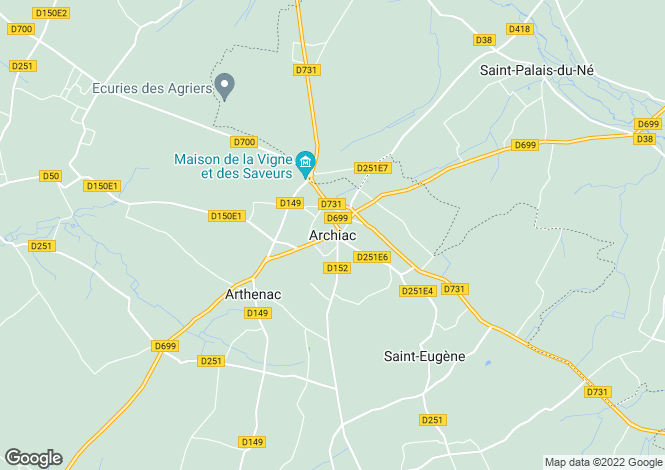Map for Secteur: Lachaise, Charente