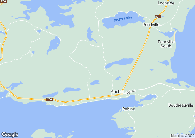 Map for Arichat, Nova Scotia