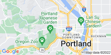 Portland Roof Cleaning map