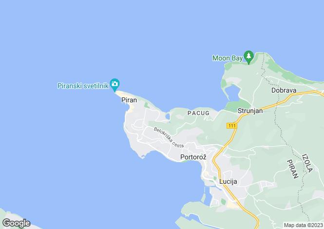 Map for Piran, Piran