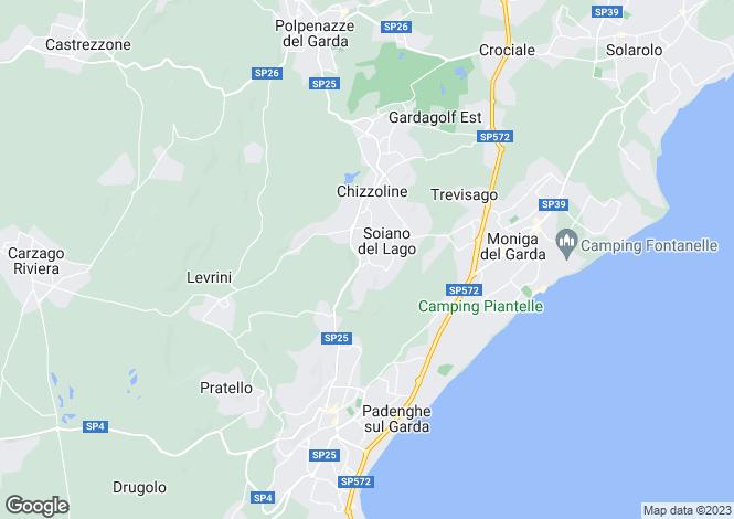 Map for Soiano Del Lago, Brescia, Lombardy