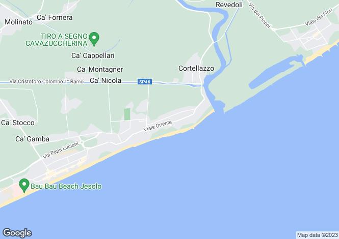 Map for Italy - Veneto, Venice, Jesolo