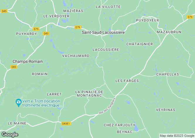 Map for Near Saint-Saud-Lacoussiere, Dordogne