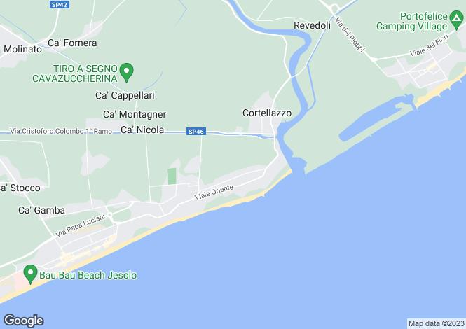Map for Lido di Jesolo, Venice, Veneto