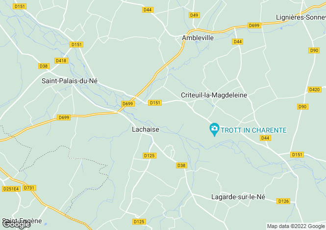 Map for jonzac, Charente, France