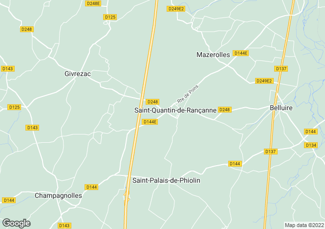 Map for st-quantin-de-rancanne, Charente-Maritime, France