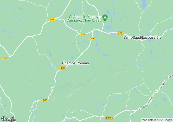 Map for Aquitaine, Dordogne, Champs-Romain