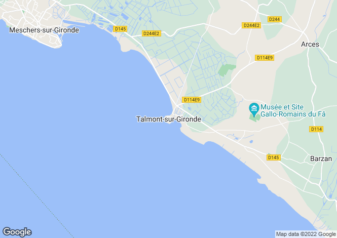 Map for Secteur: Talmont sur Gironde, Charente Maritime