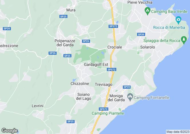 Map for Lombardy, Brescia, Soiano Del Lago