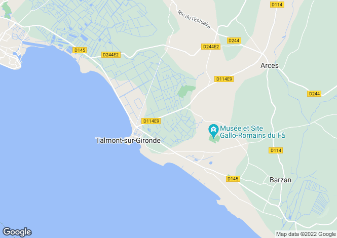 Map for talmont, Charente-Maritime, France
