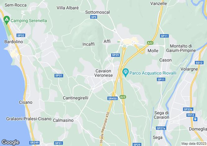Map for Cavaion Veronese, Verona, Veneto