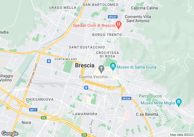 Map for Lombardy, Brescia, Brescia