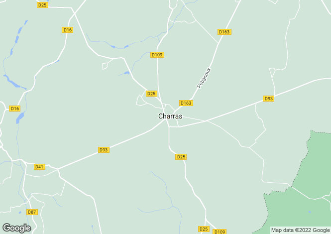 Map for Charras, Charente, 16380, France