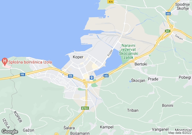 Map for Topolovec, Koper, Slovenia